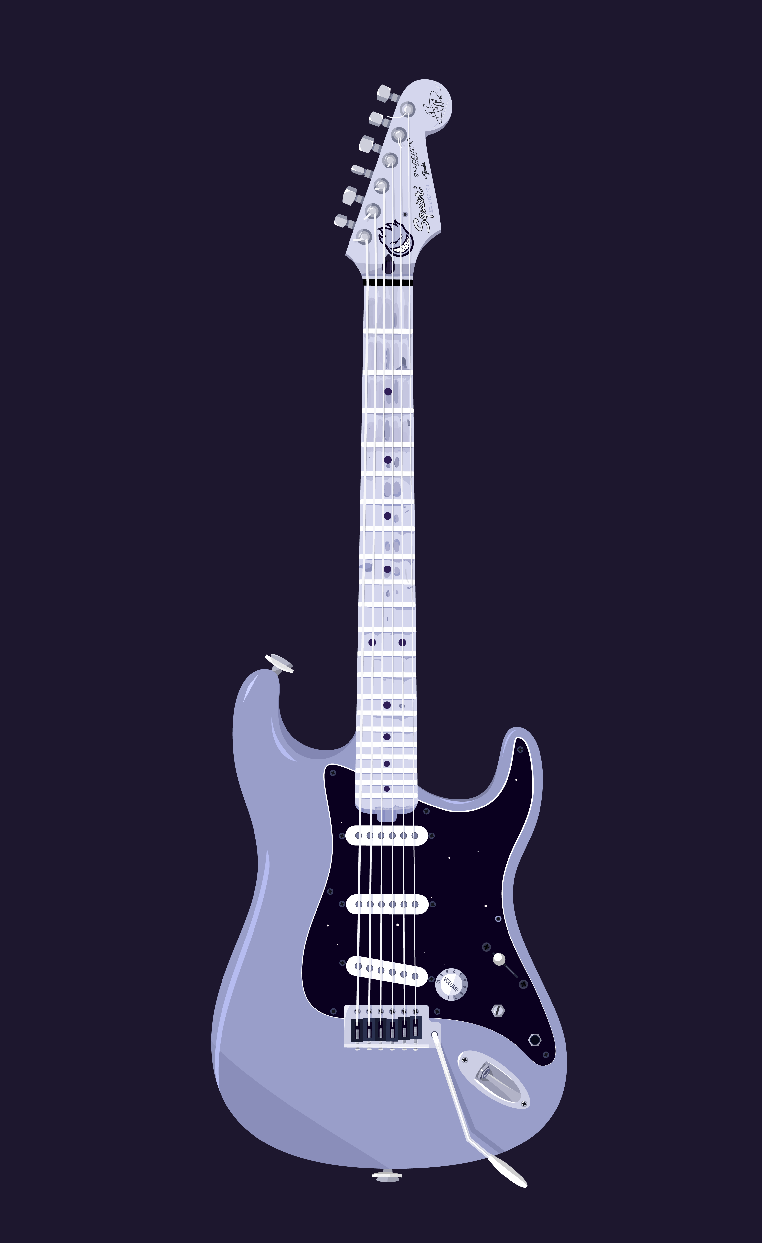 An illustration of my Squier Stratocaster Hank Marvin Signature 1992